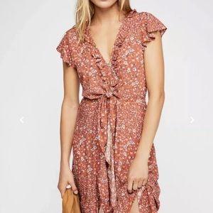 FreePeople Kivari Floral Capri TieUp Midi Dress XS